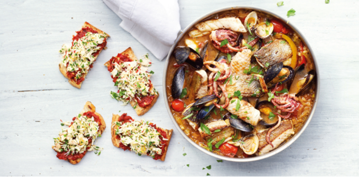 Cornish Fish Stew with Crab & 'Ndjua Toast