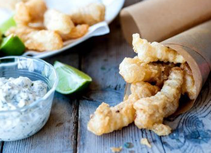 Crispy Fish Fingers in Lemonade Batter